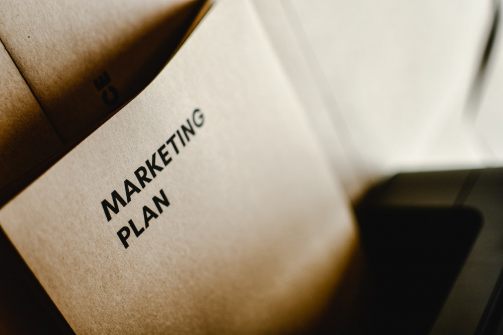 Marketing plan on a paper